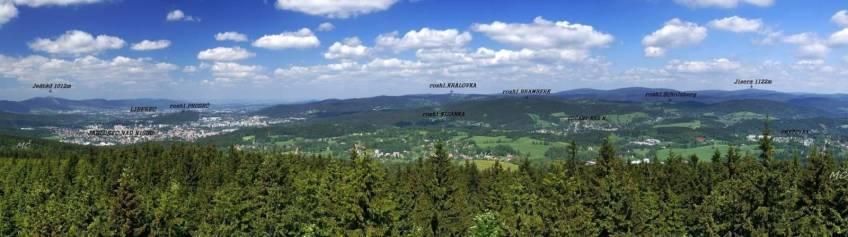 Panorama des Isergebirges
