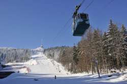 Skifahren am Jeschken