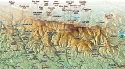 Riesengebirge auf der Karte
