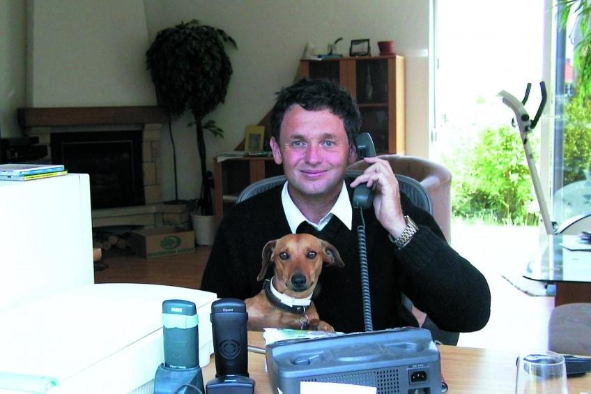 Josef Jecny und Dackel Miki